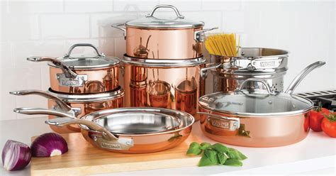 calphalon copper  piece cookware set   shipped regularly  hipsave