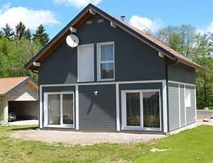 maison bois avec bardage canexel nos maisons ossatures With superb plans de maison moderne 2 maison bois plein pied avec bardage canexel nos maisons