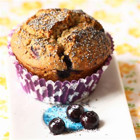 hervé cuisine crepes muffins aux myrtilles pavot bleu et amandes