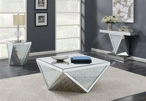 coffee table  mirror crystal  coaster woptions