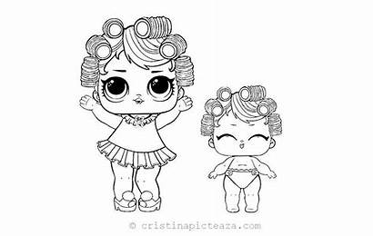 Lol Coloring Pages Sisters Lil Pop Confetti