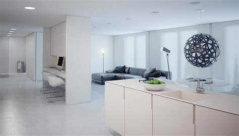 A Minimalist Modern Apartment In White by A Minimalist Modern Apartment In White Daily Home