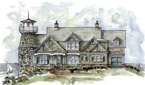shingle style home plan  lighthouse ge st