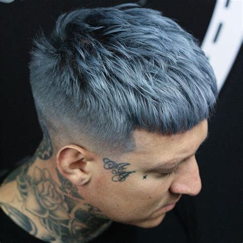 Dark Warm Grey Hair Color For Men Men Hair Color Dyed