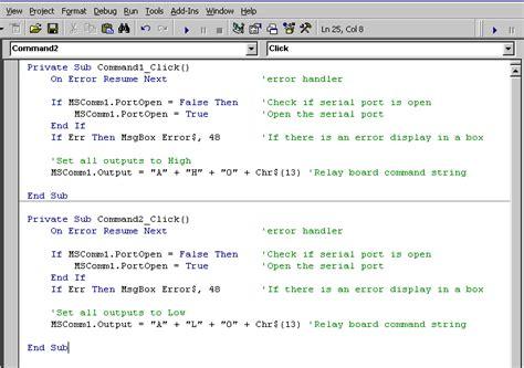 pencom visual basic serial port software exle
