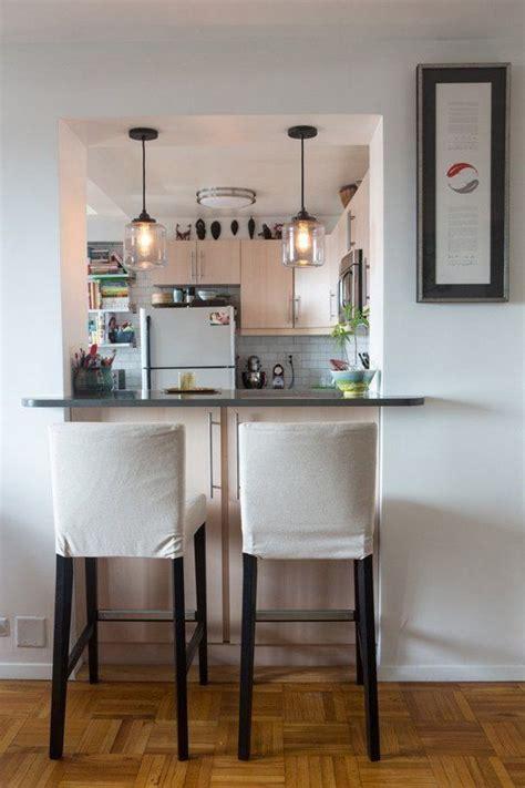 glass pendant lights  hang   kitchen interior