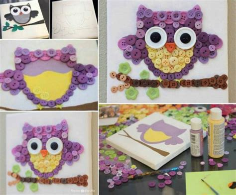 craft ideas using buttons owl button a craft you ll 3945