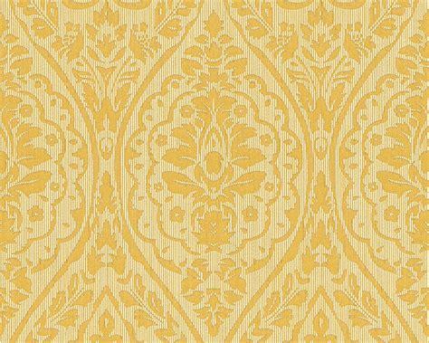 teppiche essen tapete vlies barock gelb gold tessuto 96195 1