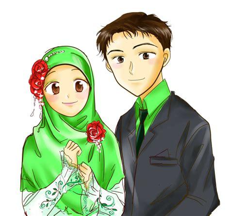gambar anime islam romantis gambar animasi kartun islami lucu gambar kata kata