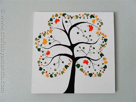 projects for adults shamrock tree on canvas recipe craft