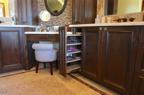 Bathroom Vanities With Makeup Area by 187 Bathroom Remodeling Gallerykitchen And Bathroom Design