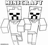 Minecraft Coloring Pages Sword Colouring Wolf Printable Sheets Mine Herobrine Craft Template Fyrir Myndaniðurstaða Boys Ender Dragon Pdf Pigs Colorings sketch template