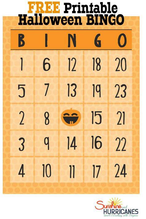 Free Halloween Printables Bingo