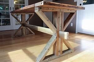 Hometalk One Farmhouse Table, Two Leg Style Options