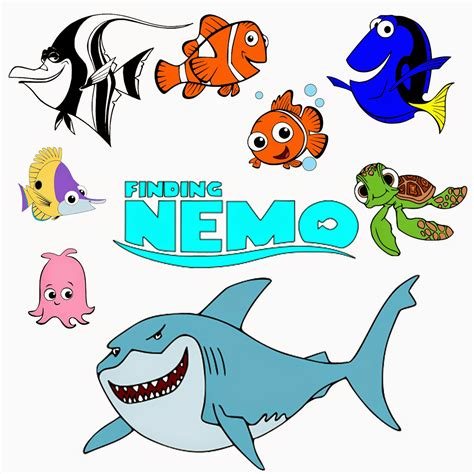 nemo clipart finding nemo characters silhouette clipart images collection