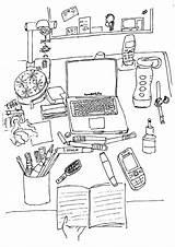 Desk Coloring Adult Books Desktop Office Chocolates Colouring Mess Mints Called Desks sketch template