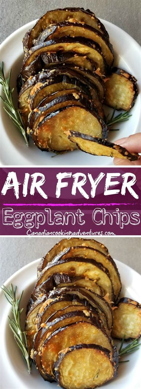 air fryer recipes healthy dinner eggplant chips easy airfryer fried club recipe fluffyskitchen canadiancookingadventures donatinghub appetizers keto