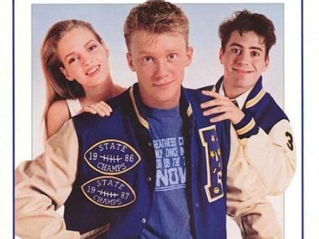 robert downey junior  blue letterman jacket johnny