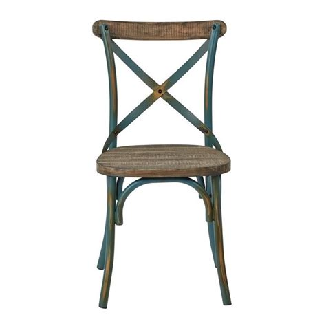 metal dining chair with wood seat in turquoise smr424was atq