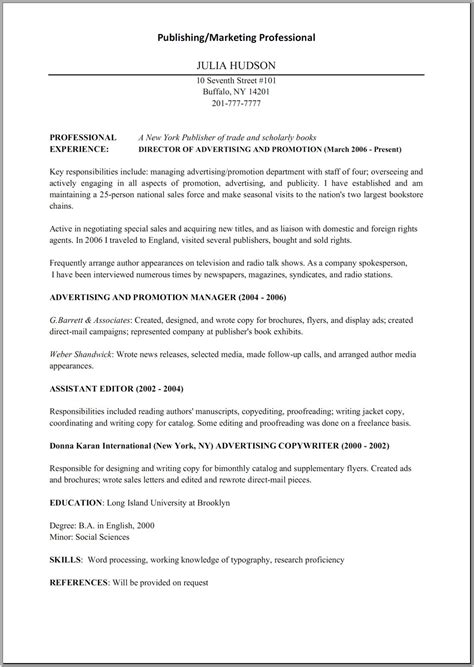 resume freelance copy editor strengths 28 images sle