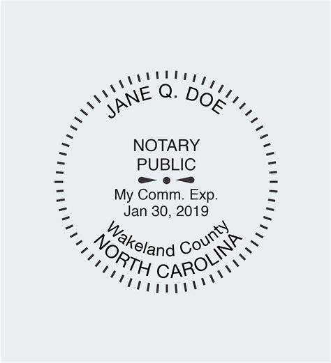 north carolina notary seals nna
