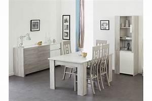 Ensemble Salle A Manger : salle manger moderne gris portofino et blanc brillant ~ Melissatoandfro.com Idées de Décoration