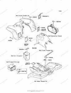 Kawasaki Atv 2008 Oem Parts Diagram For Labels