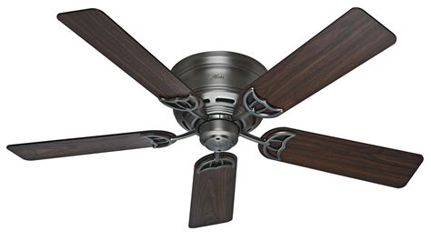 hunter 52 quot low profile iii 2013 ceiling fan hu 53071 in