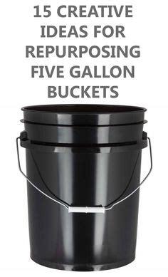 creative ways  repurpose  gallon buckets easy