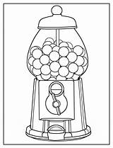 Gumball Machine Coloring sketch template