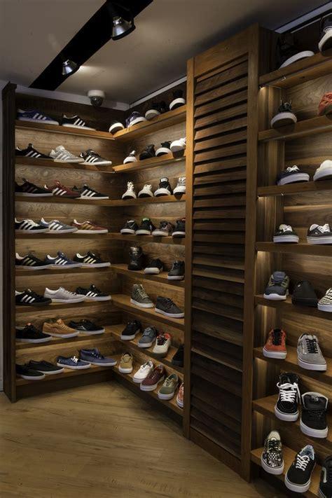 walnut  cherry sneaker display wall  led lighting