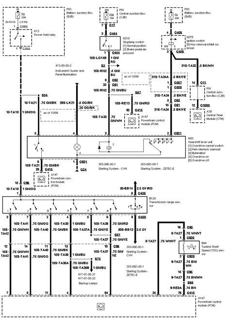 2003 Focu Wiring Schematic by 2000 Ford Focus A Wiring Diagram
