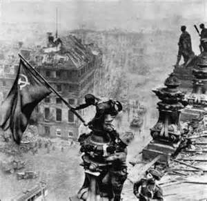 Berlin the Soviet Flag On Reichstag May 1945