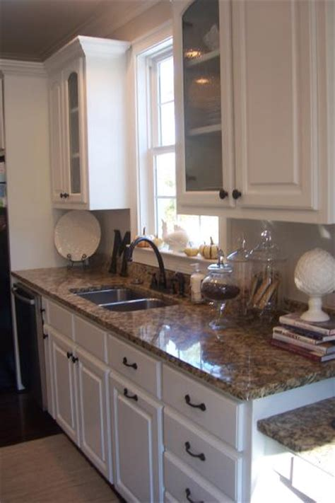 granite colors with white cabinets santa cecilia granite traditional kitchen