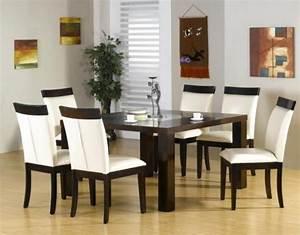 Decoration salle a manger meubles sympas espace 25 idees for Deco cuisine avec chaise cuir blanc salle a manger