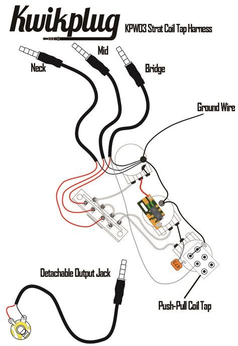 Kwikplug Hss Strat Humbucker Coil Tap Switching Wiring