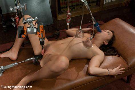 Puss Game And Squirting On Drilling Machine