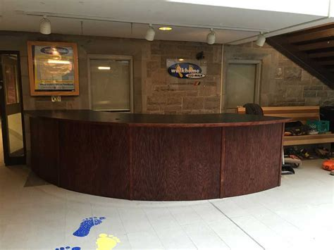Custom Curved Reception Desk   Trinity Custom Carpentry