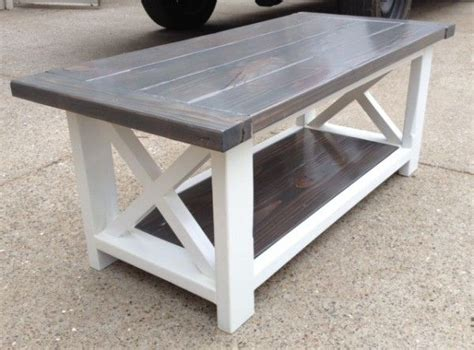 rustic  coffee table    home projects