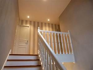 Anthracite deco renovation d39escalier for Peindre un escalier en gris 2 escalier deco peint en blanc marches et rambarde en bois