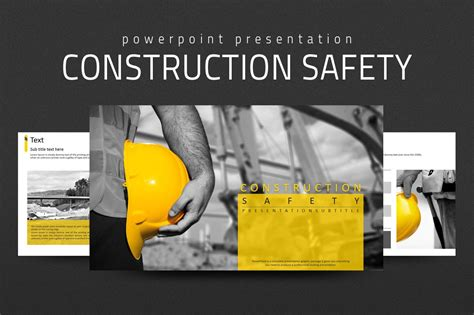 construction safety  powerpoint templates creative