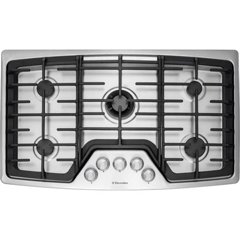2 burner gas cooktop electrolux wavetouch 36 in gas cooktop in stainless steel
