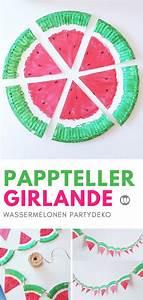 Basteln Für Den Sommer : pappteller bastelidee fruchtige melonen girlande f r den sommer basteln mit kindern basteln ~ Buech-reservation.com Haus und Dekorationen