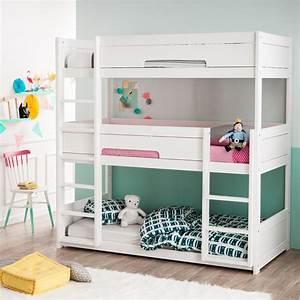 Lit Superposé Ikea 3 Places : focus sur le lit superpos 3 places alfred et compagnie france ~ Melissatoandfro.com Idées de Décoration