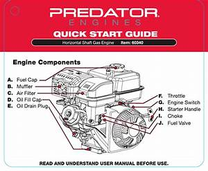 Quick Start Guide For The 60340 420 Cc Ohv Horizontal