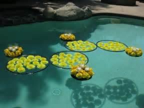 ideas  floating pool decorations