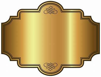 Plaque Label Clipart Template Golden Luxury Labels