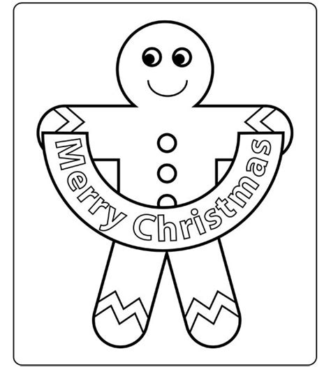 gingerbread man christmas coloring pages festival