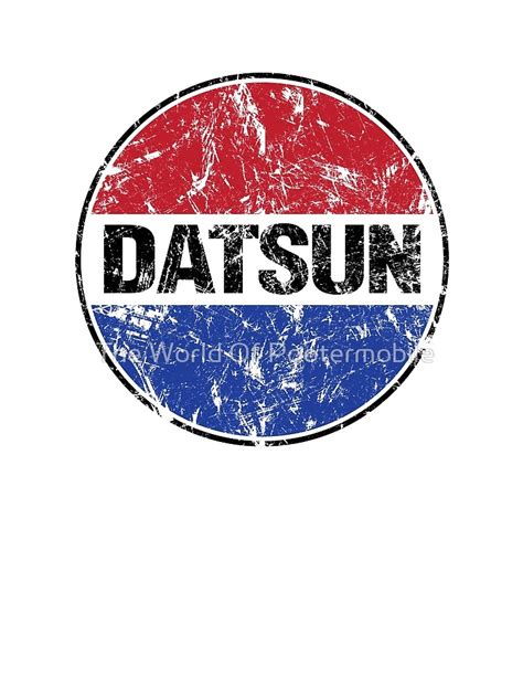 Datsun Logo by Quot Datsun Logo Quot By The World Of Pootermobile Redbubble