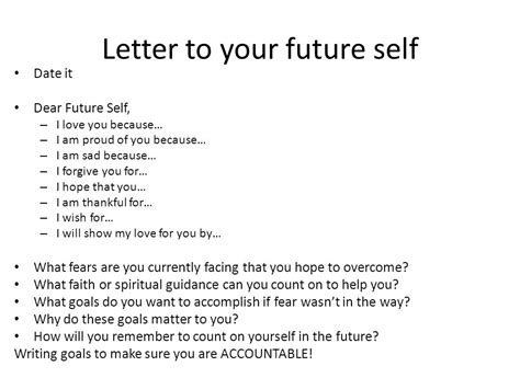letter to future self template checklist for today tusko recap psychology class rank the units ppt